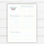 Instant Download Routines Printable Planner for Happy Planner Size 7x9.25