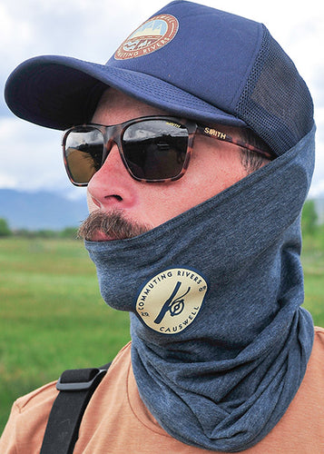 Causwell Round Fly Reel ProTec Neck Gaiter Navy