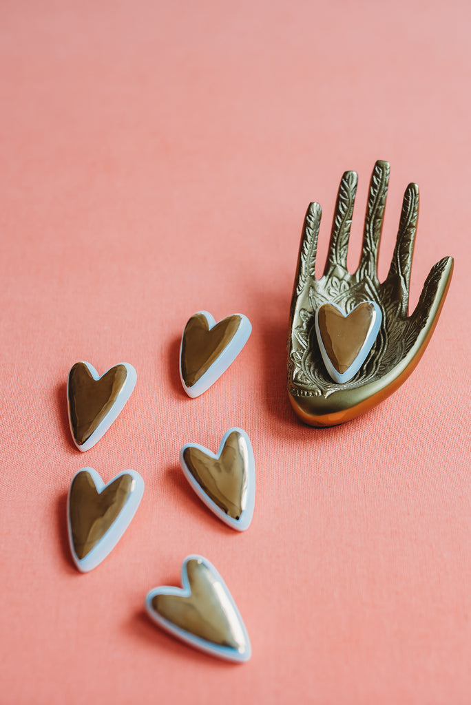 Heart Pin Collab with Meg Does Pottery