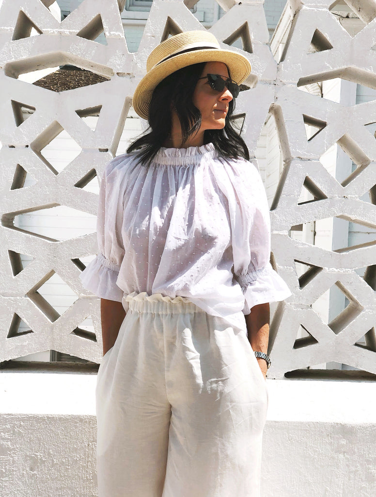White Amelia Blouse