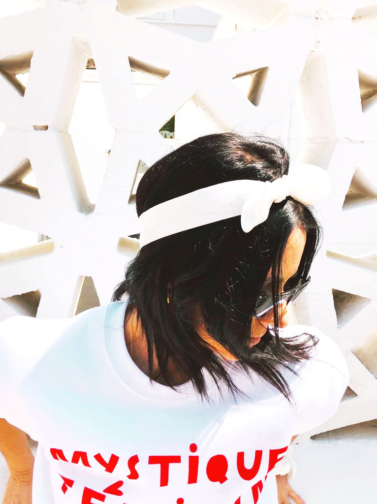 White Scrunchie Headband