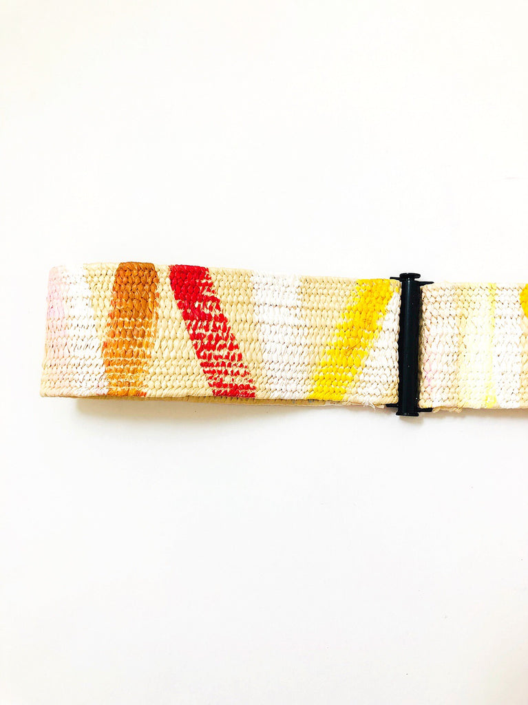 Hand painted Raffia Belts