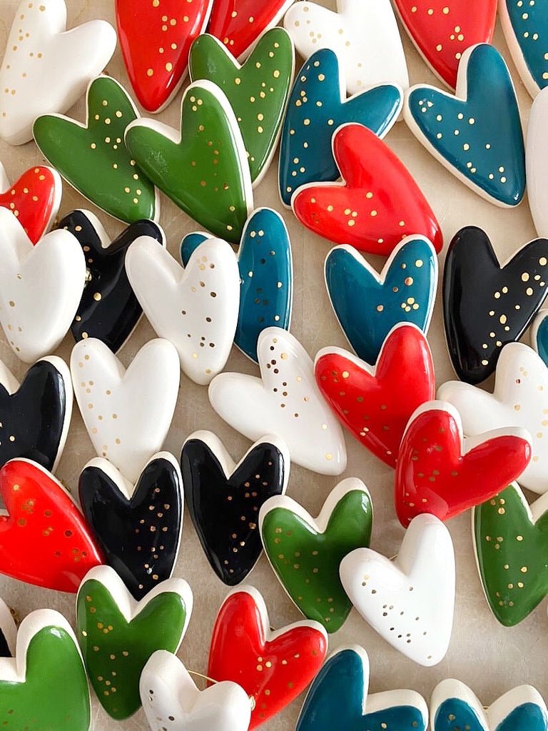 Heart Brooches. Collab with Meg Does Pottery