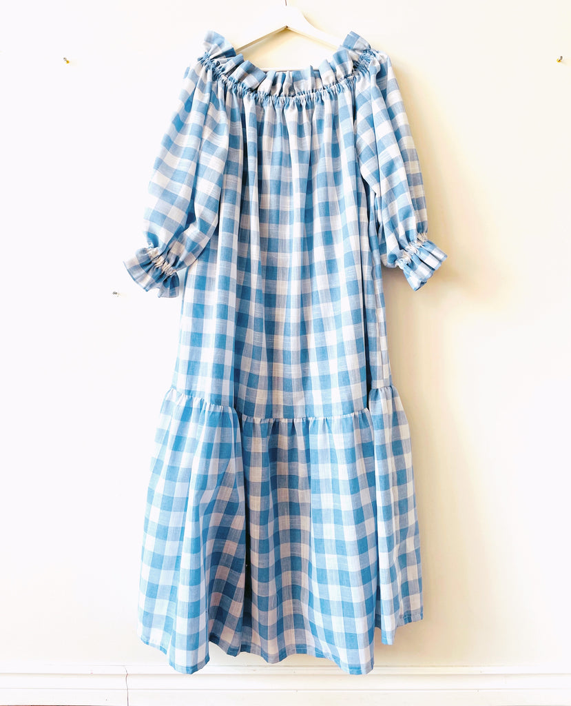 Nikita Day Gown in Provence Blue ( maxi & mini )