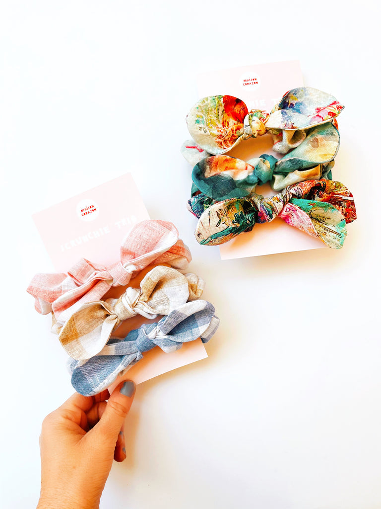 Scrunchie Trio Set with our favourite textiles
