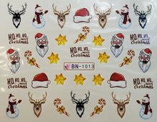 """Christmas Friends"" Water transfer nail decals (23 Styles)"