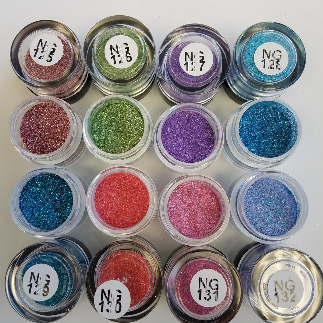 Princess Nail Designs Glitter #125-132