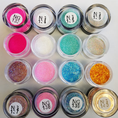 Princess Nail Designs Glitter #133-140