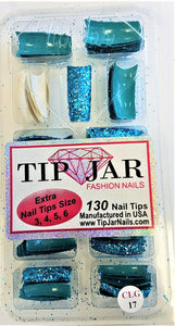 Tip Jar Glitter Nail Tips 130pcs