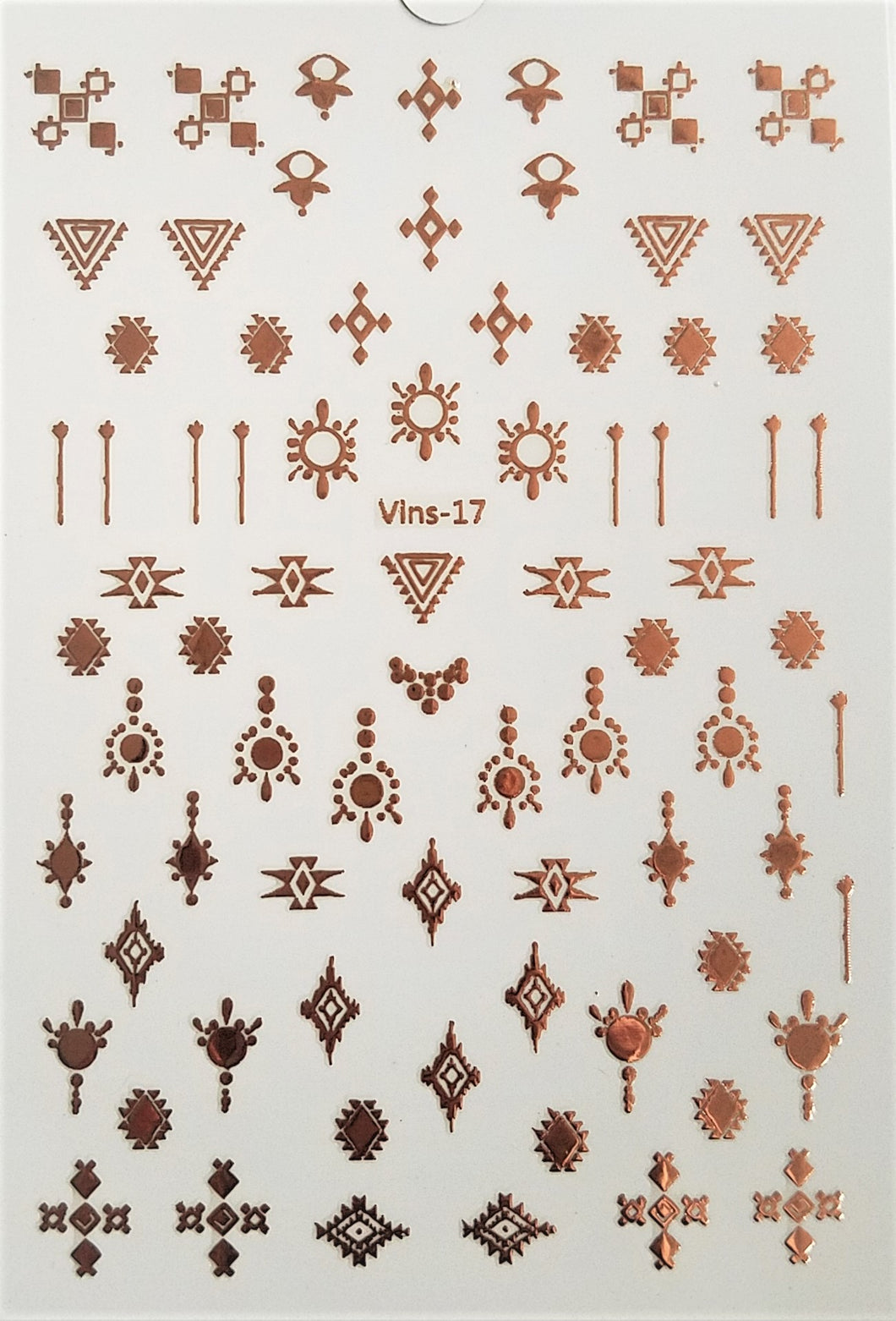 Rose Gold 3D Nail Art Stickers #1