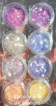 UV Color Changing Glitter 8pc Set