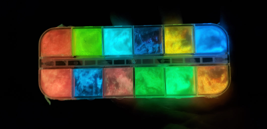 Glow in the Dark Pigment Powder Set