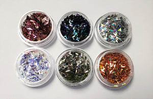 Spear Nail Sequins 6pc Jar Set