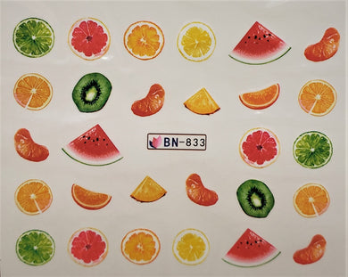1pc x Fruity Fruite water transfer nail decals (12 selections)