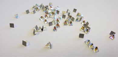 Swarovski Crystal AB 'Square Spike' flat back 10pcs