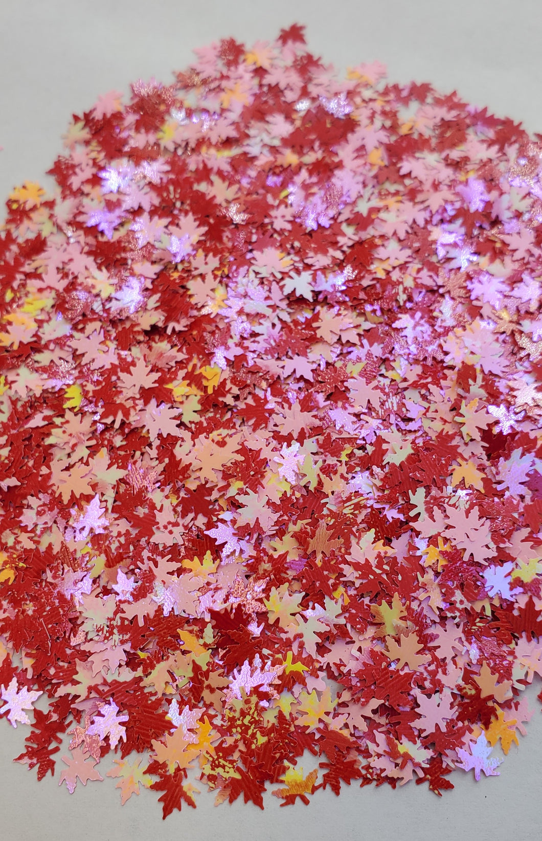 Pink Maple Leaves nail glitter
