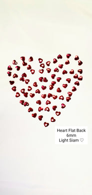 Swarovski Light Siam Heart Flat Back Crystal