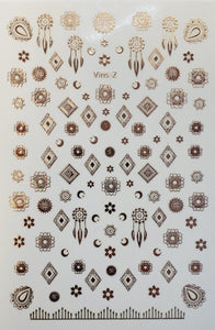 """Rose Gold Dream Catcher"" Nail stickers"