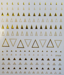 """Gold Multi Triangle"" Nail stickers"