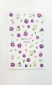 Flower Water Transfer Stickers