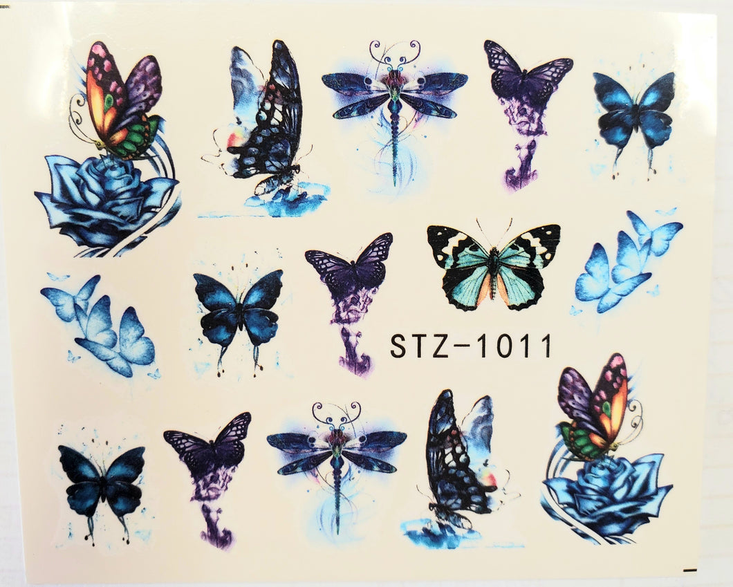 Butterfly water transfer nail decals STZ-1011
