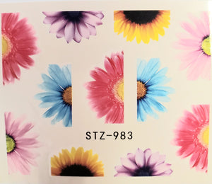 Butterfly water transfer nail decals STZ-983