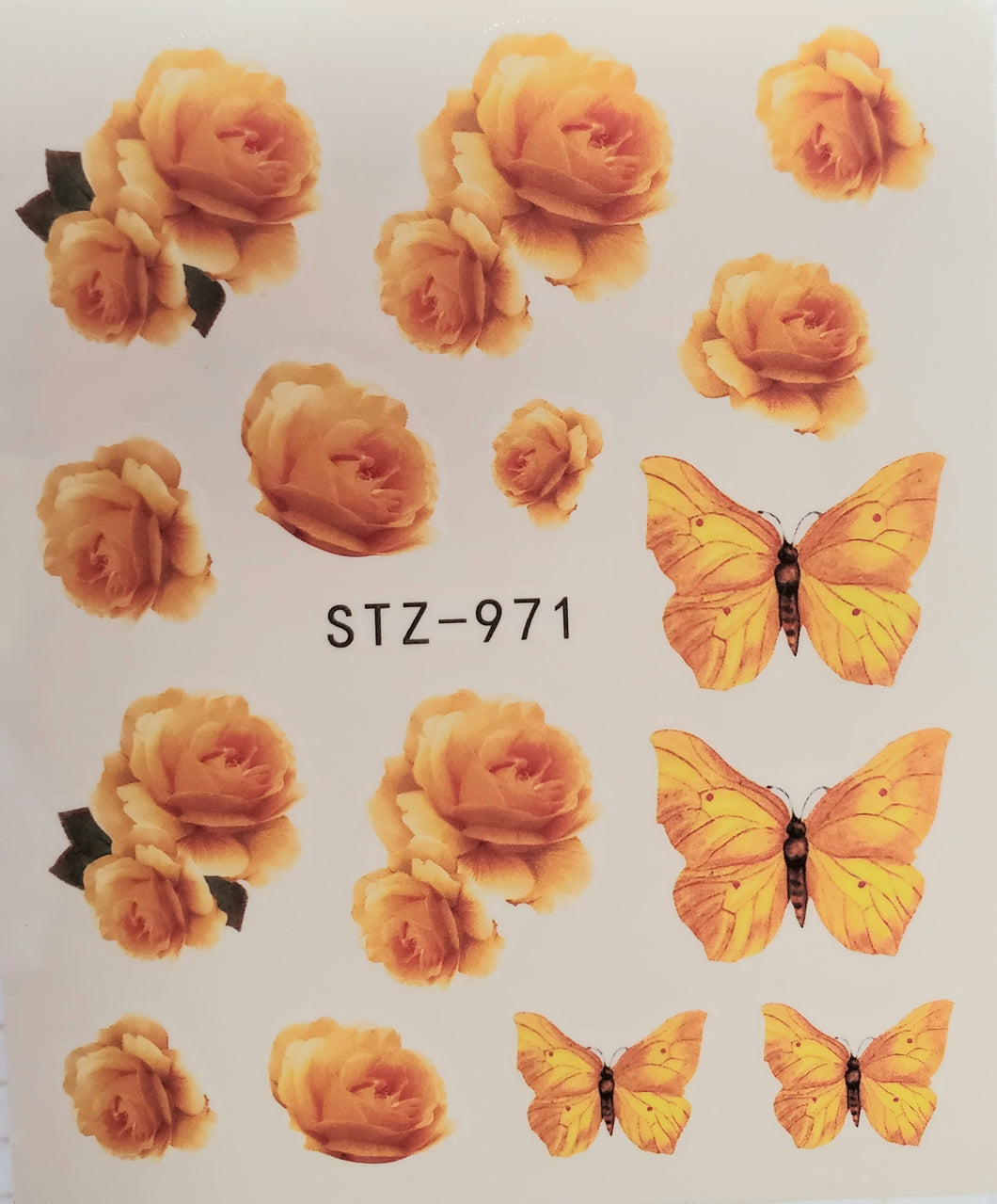 Butterfly water transfer nail decals STZ-971