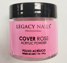 Legacy nails cover rose acrylic powder