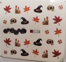 Halloween water transfer nail decals