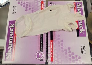 1 box Shamrock Latex Gloves ( Powder Free) - Curbside Pickup Only