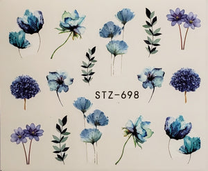 Flower Water Transfer Nail Decal (23 Styles)