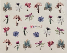 Botanical Garden Water Transfer Nail Decals (7 Styles)