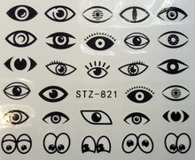 """Multi Eye"" Water transfer nail decals (7 Styles)"