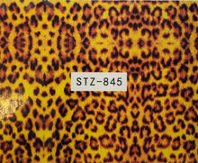 """Animal Print"" Water Transfer Nail Decals  (11 Styles)"