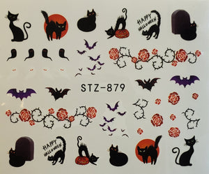 """Halloween Mix"" Water transfer Nail Decals (20 Styles)"