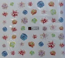 Desert Flowers Water transfer nail decals (12 styles)