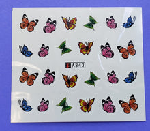 Colorful Butterfly Water Transfer Nail Decal (21 Different styles) (Set 1)