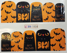Cute Halloween Water transfer nail decals ( 12 styles )