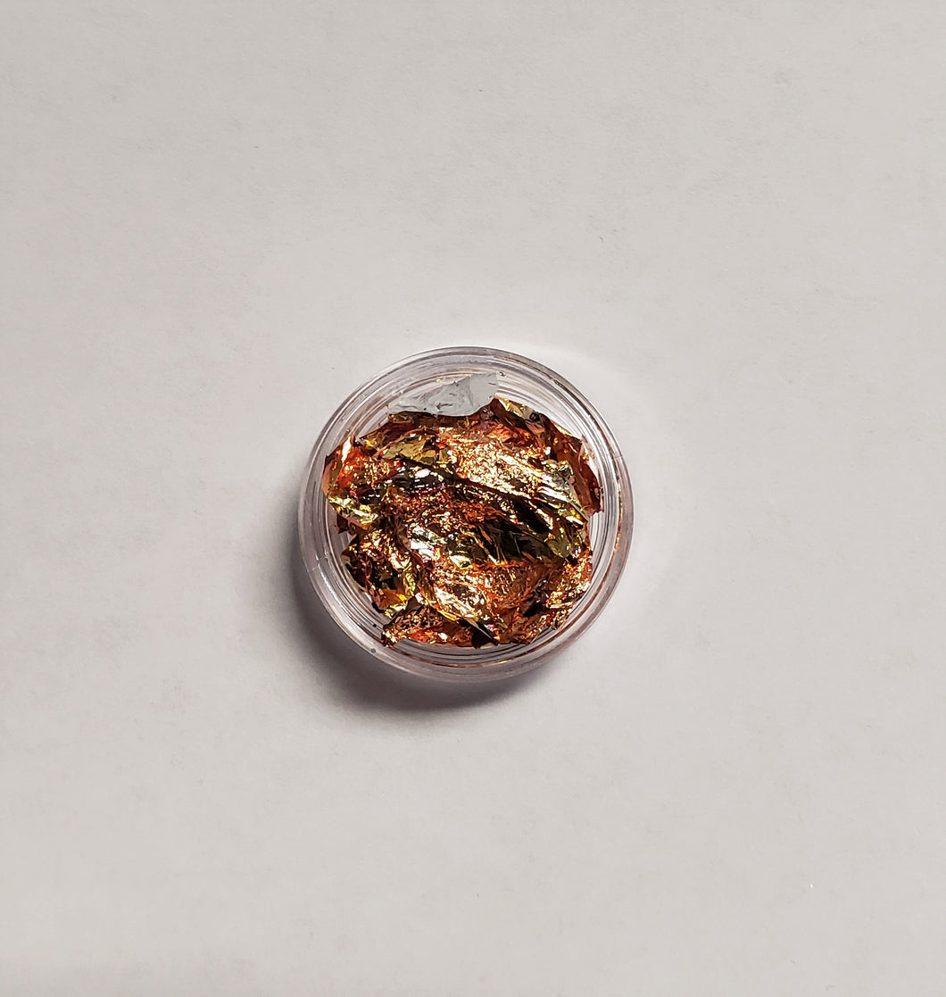Bronze/Pink Foil Flakes