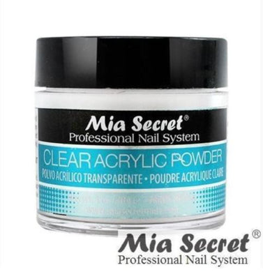 Mia Secret Clear Acrylic Nail Powder 1oz. / 2oz. / 4oz. / 8oz.