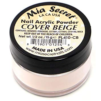 Mia Secret Cover Acrylic Powders (Beige, Rose, Pink, Nude Blush) 1/2oz. / 1oz. / 2oz.