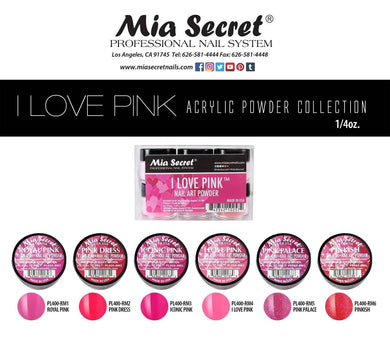 Mia Secret I Love Pink Acrylic Collection (6 colors)
