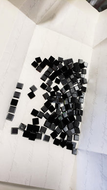 Swarovski Square Jet Hematite Flat Back Crystal 4mm