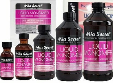 Mia Secret Liquid Monomer 1oz. / 2oz. / 4oz. / 8oz. / 16oz.