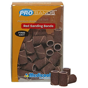 Medicool Red Sanding Bands 100 pcs. Box