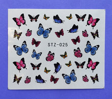 Colorful Butterfly Water Transfer Nail Decals (5 styles) (Set 2)