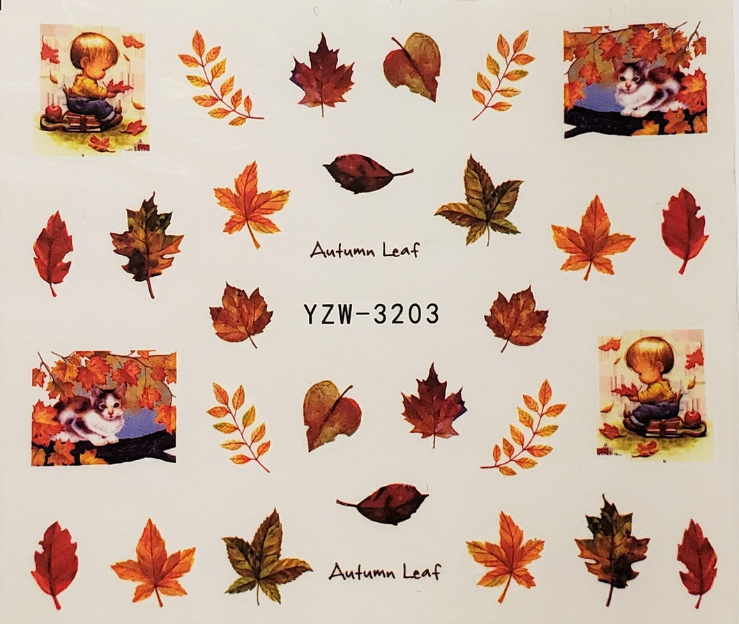 Autumn Water Transfer Nail Decal