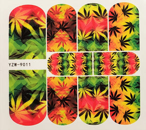 Cannabis Water Transfer Nail Decal