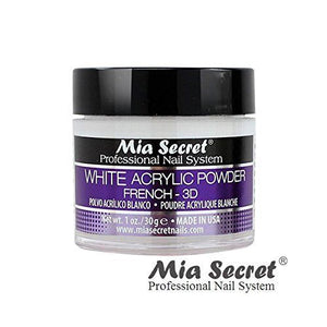 Mia Secret White Acrylic Nail Powder for French & 3D 1oz. / 2oz. / 4oz.