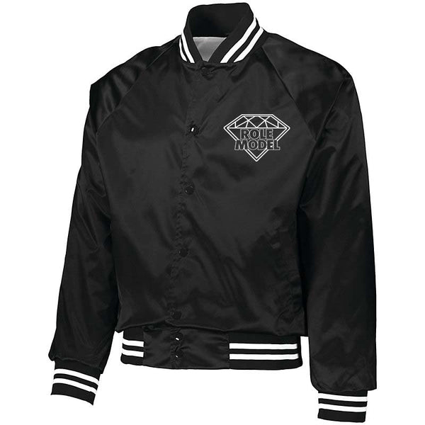 ROLE MODEL PAPER ROUTE  BASEBALL JACKET (Black)